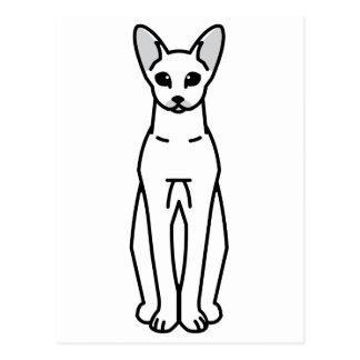 Dibujo animado oriental del gato de Shorthair Postal