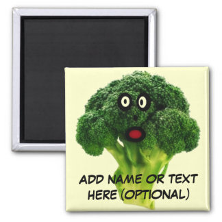 Dibujo animado personalizado del bróculi imán