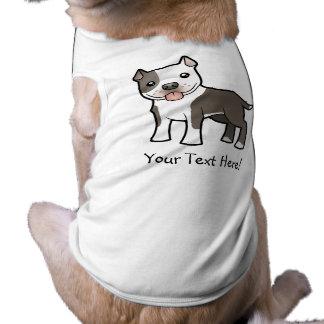 Dibujo animado Pitbull/Staffordshire Terrier ameri Camisa De Perrito