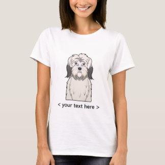 Dibujo animado polaco del perro pastor de la camiseta