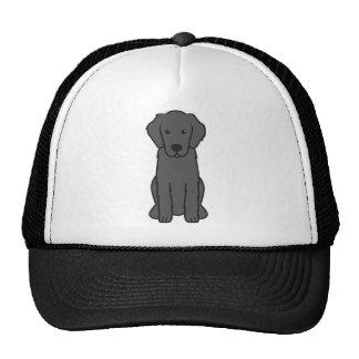 Dibujo animado revestido plano del perro del perro gorra