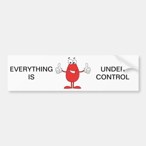 Dibujo animado rojo divertido pegatina de parachoque