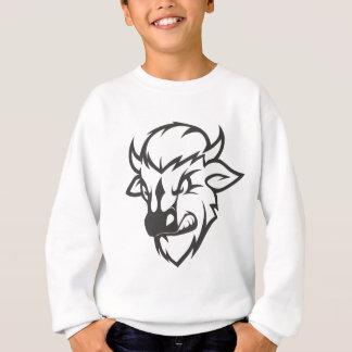 Dibujo animado salvaje del búfalo sudadera