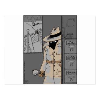 dibujo animado secreto inferior de 485 máximos postal