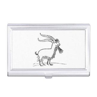 Dibujo animado sonriente lindo blanco y negro de caja de tarjetas de visita