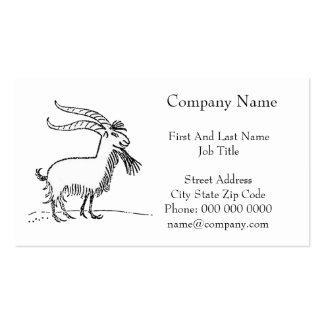 Dibujo animado sonriente lindo blanco y negro de tarjetas de visita