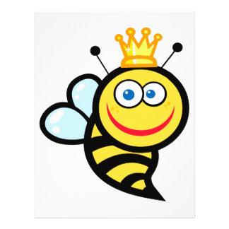 dibujo animado sonriente lindo tonto de la abeja r tarjeton