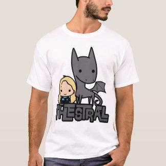 Dibujo animado Thestral y arte del carácter de Camiseta