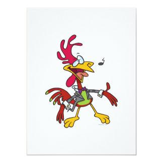 dibujo animado tonto del gallo del canto comunicado personal