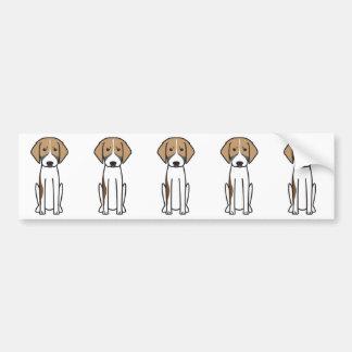Dibujo animado tricolor francés del perro de caza pegatina para coche