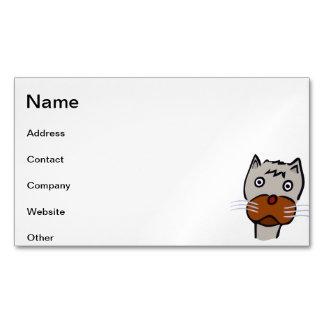 Dibujo animado triste del gato tarjetas de visita magnéticas (paquete de 25)