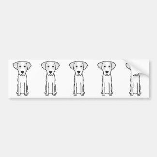 Dibujo animado Wirehaired del perro de caza de Etiqueta De Parachoque