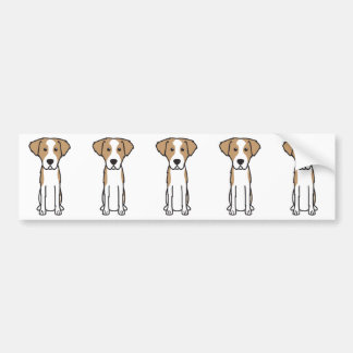 Dibujo animado Wirehaired del perro de caza de Pegatina Para Coche