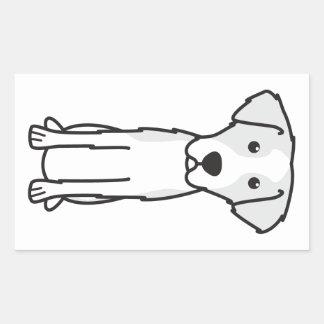 Dibujo animado Wirehaired del perro de caza de Pegatina Rectangular