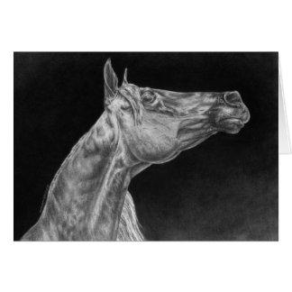 Dibujo árabe del retrato del caballo por el cisne tarjeta de felicitación