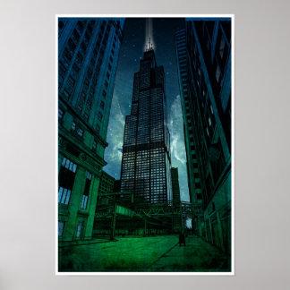 Dibujo arquitectónico de Torre Sears Impresiones