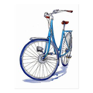 Postales bicicleta azul tarjetas postales - La bici azul ...