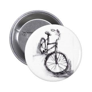 Dibujo blanco y negro de la bici pin