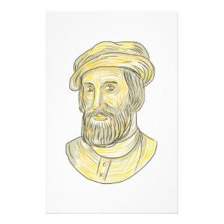 Dibujo de Hernan Cortes de Monroy Papeleria De Diseño