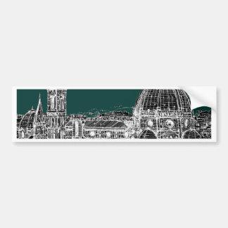 Dibujo de la arquitectura de Florencia Pegatina Para Coche