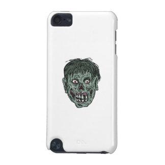 Dibujo de la cabeza del cráneo del zombi carcasa para iPod touch 5G
