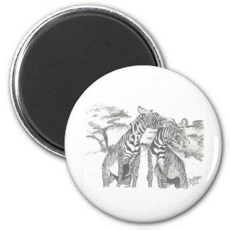 Dibujo de la cebra imán redondo 5 cm