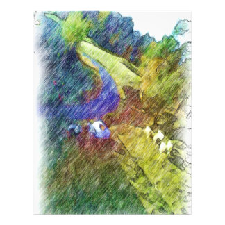 Dibujo de la foto de la naturaleza tarjetas informativas
