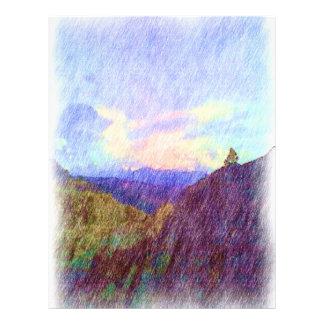 Dibujo de la naturaleza folleto 21,6 x 28 cm