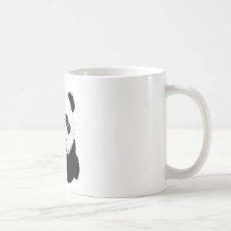 Dibujo de la panda taza básica blanca