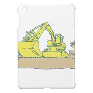 Dibujo de la voluta de la cinta del excavador del