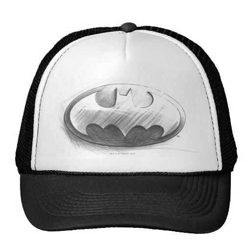Dibujo de las insignias de Batman Gorra
