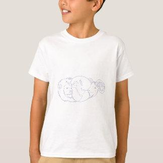Dibujo de Oriente Medio del globo del espolón del Camiseta