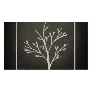 Dibujo de tiza de ramificación del árbol joven del tarjetas de visita