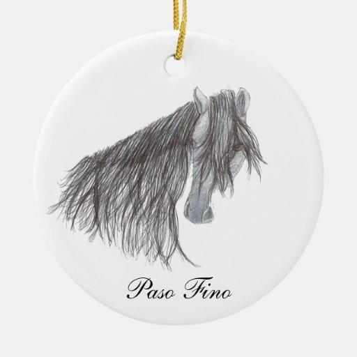 Dibujo del caballo de Paso Fino Adorno