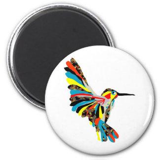 dibujo del colibrí imán redondo 5 cm