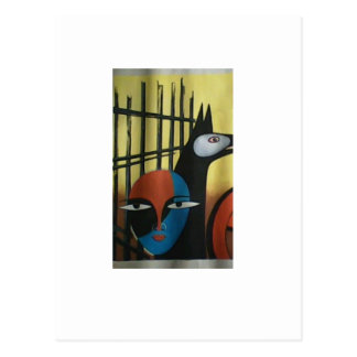 Dibujo del color de agua avialable en marco de la  postal