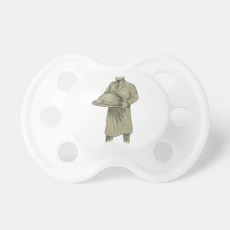 Dibujo del disco de la comida de la porción del chupetes de bebé