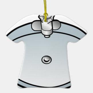 Dibujo del fregadero del cuarto de baño adorno de cerámica en forma de camiseta