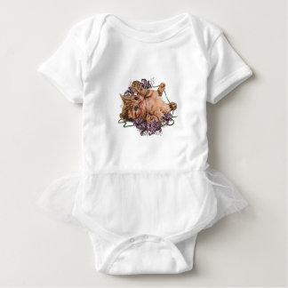 Dibujo del gatito como gato con la secuencia y body para bebé