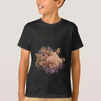 Dibujo del gatito como gato con la secuencia y camiseta