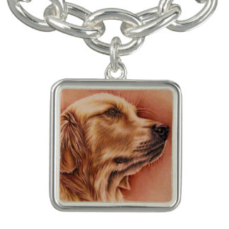 Dibujo del golden retriever en la pulsera