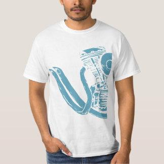 Dibujo del motor de la motocicleta camisetas