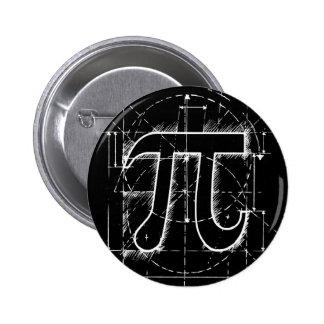 Dibujo del número del pi chapa redonda 5 cm