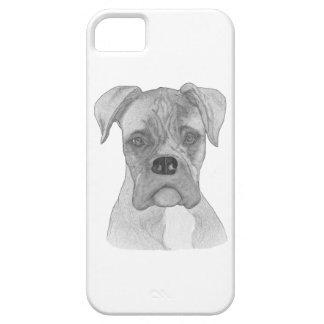 Dibujo del perro B&W del boxeador Funda Para iPhone SE/5/5s