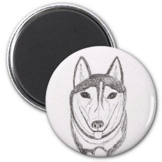 Dibujo del perro imanes de nevera