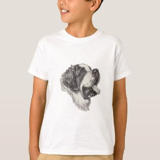Dibujo del retrato del perfil del perro de St Camiseta