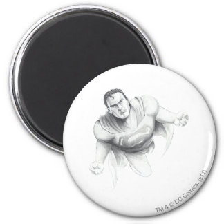 Dibujo del superhombre imán redondo 5 cm