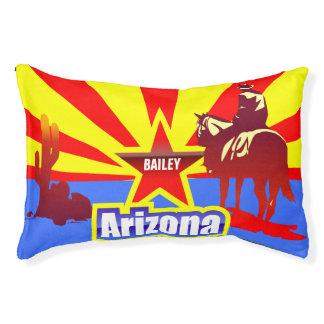 Dibujo del vintage de la bandera del estado de cama para mascotas