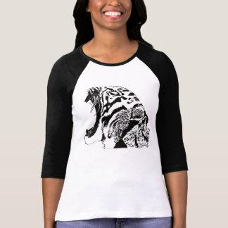 Dibujo digital del tigre del rugido camiseta