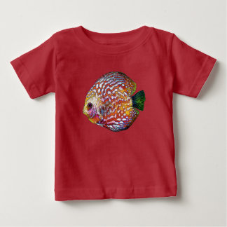 Dibujo exótico colorido psicodélico de los camiseta de bebé
